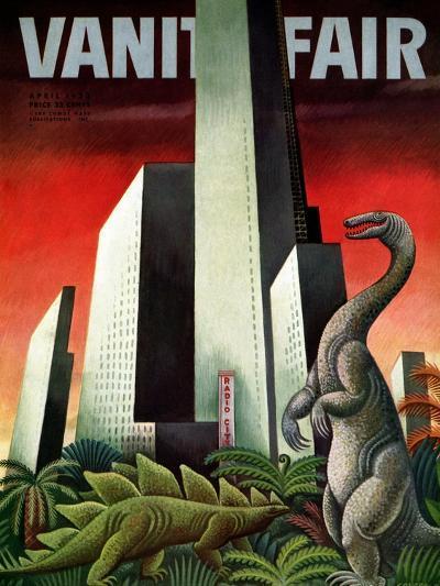 Vanity Fair Cover - April 1933-Miguel Covarrubias-Premium Giclee Print