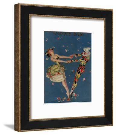 Vanity Fair Cover - February 1914-Frank X. Leyendecker-Framed Premium Giclee Print