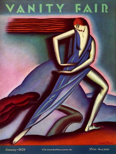 Vanity Fair Cover - January 1929-Symeon Shimin-Premium Giclee Print