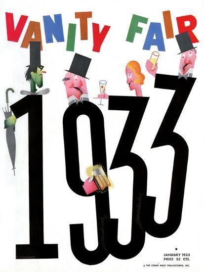 Vanity Fair Cover - January 1933-Frederick Chance-Premium Giclee Print