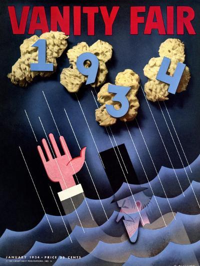 Vanity Fair Cover - January 1934-Frederick Chance-Premium Giclee Print