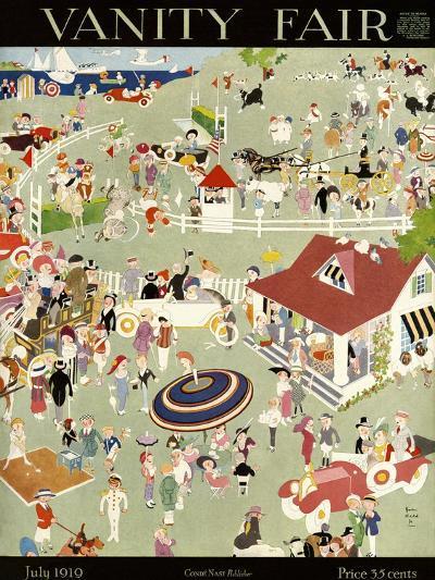 Vanity Fair Cover - July 1919-John Held, Jr.-Premium Giclee Print