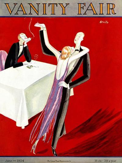 Vanity Fair Cover - June 1924-Eduardo Garcia Benito-Premium Giclee Print