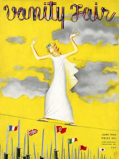 Vanity Fair Cover - June 1935-Garretto-Premium Giclee Print