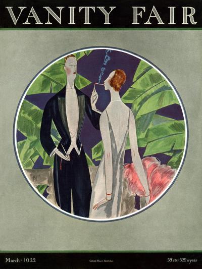 Vanity Fair Cover - March 1922-Eduardo Garcia Benito-Premium Giclee Print