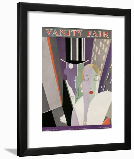 Vanity Fair Cover - March 1928-Eduardo Garcia Benito-Framed Art Print