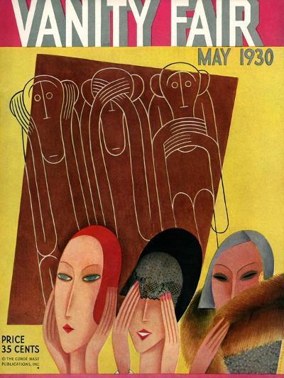 Vanity Fair Cover - May 1930-Miguel Covarrubias-Premium Giclee Print