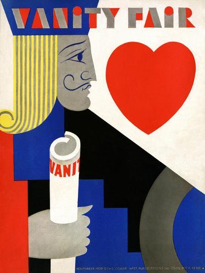 Vanity Fair Cover - November 1929-M. F. Agha-Premium Giclee Print