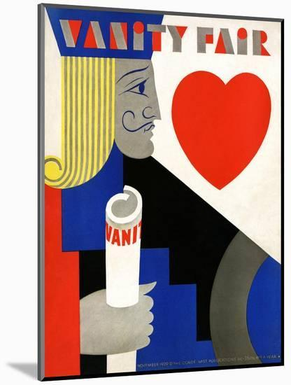 Vanity Fair Cover - November 1929-M. F. Agha-Mounted Premium Giclee Print