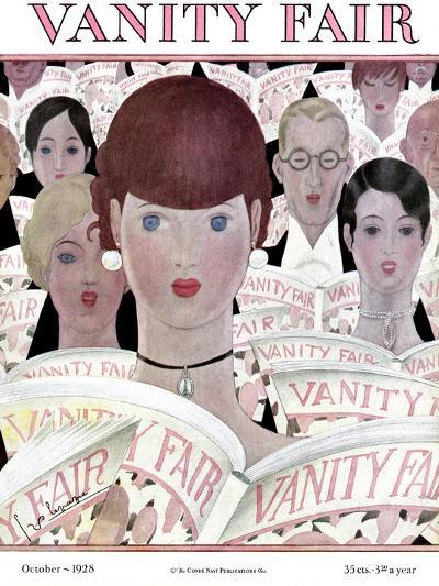 Vanity Fair Cover - October 1928-Georges Lepape-Premium Giclee Print