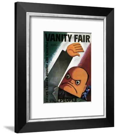 Vanity Fair Cover - October 1932-Miguel Covarrubias-Framed Premium Giclee Print