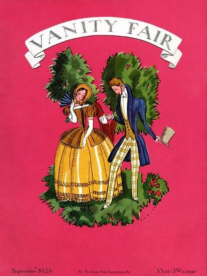 Vanity Fair Cover - September 1928-Eduardo Garcia Benito-Premium Giclee Print