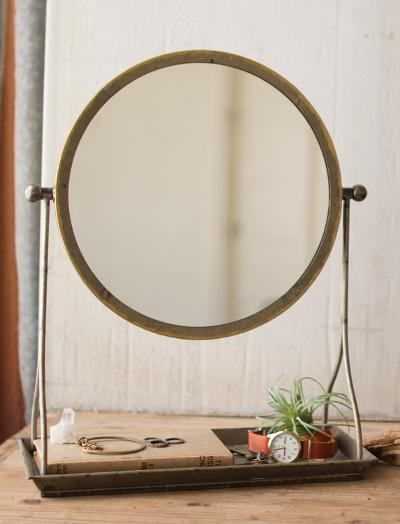 Vanity Mirror with Tabletop Stand--Home Accessories