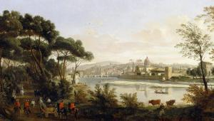 View of Florence, Palatine Gallery, Palazzo Pitti, Florence by Vanvitelli (Gaspar van Wittel)
