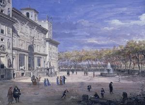 Villa Medici in Rome, Palatine Gallery, Florence by Vanvitelli (Gaspar van Wittel)