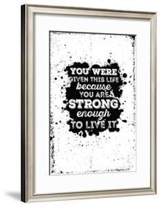 4f5b14e3b33 Beautiful Life Motivational framed-posters artwork for sale
