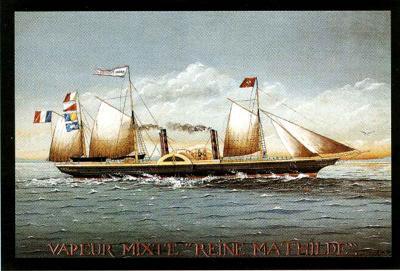 Vapeur Mixte Reine Mathilde-Dominique Perotin-Art Print