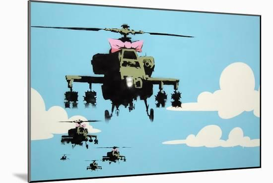 Vapor Helicopter UAV-Banksy-Mounted Giclee Print