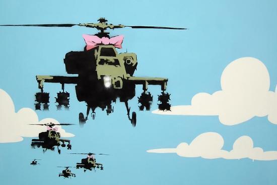 Vapor Helicopter UAV-Banksy-Premium Giclee Print