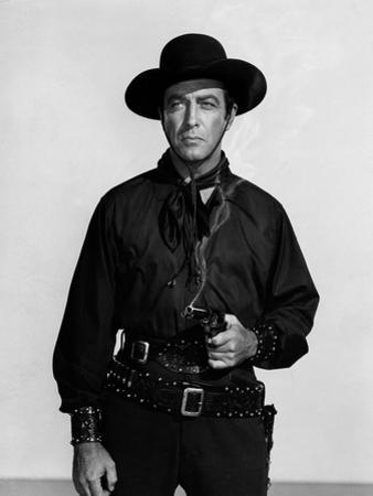 Vaquero Ride, Vaquero! by John Farrow with Robert Taylor, 1953 (b/w photo)