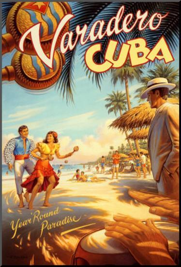 Varadero, Cuba-Kerne Erickson-Mounted Print