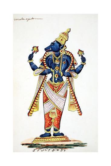 Varaha, Boar Avatar of Vishnu--Giclee Print