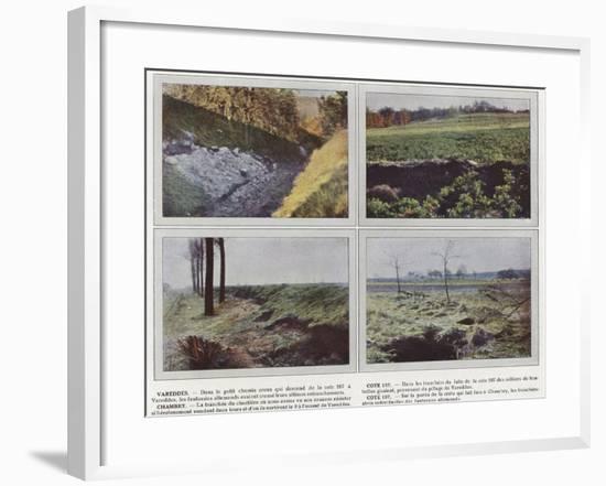 Vareddes, Cote 107, Chambry, Cote 107-Jules Gervais-Courtellemont-Framed Photographic Print