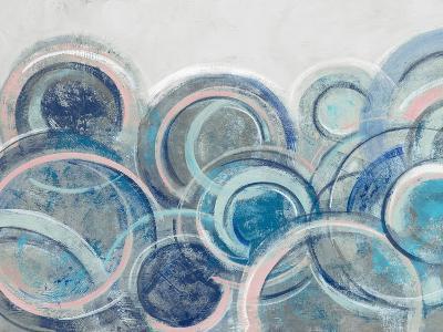 Variation Blue Grey Pink Crop-Silvia Vassileva-Art Print
