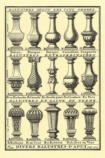 Variety of Balustrades--Art Print