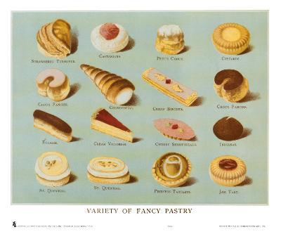 Variety of Fancy Pastry--Art Print
