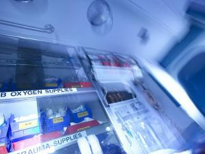 Variety of Medical Supplies in Ambulance