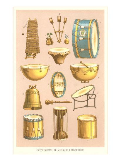 Variety of Percussion Instruments--Art Print