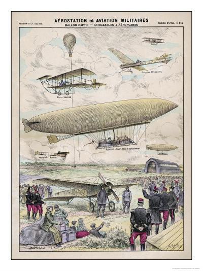Various Aircraft 1912-G. Bigot-Giclee Print