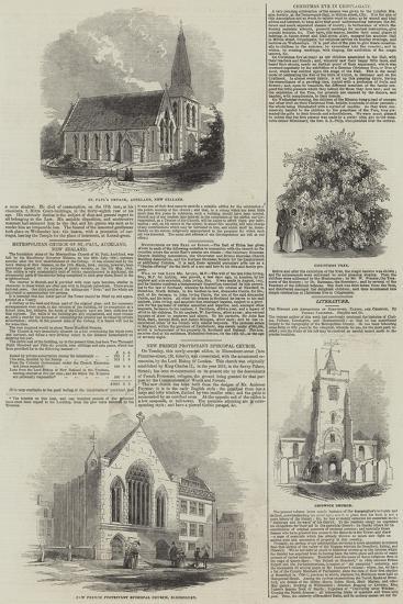 Various Churches--Giclee Print