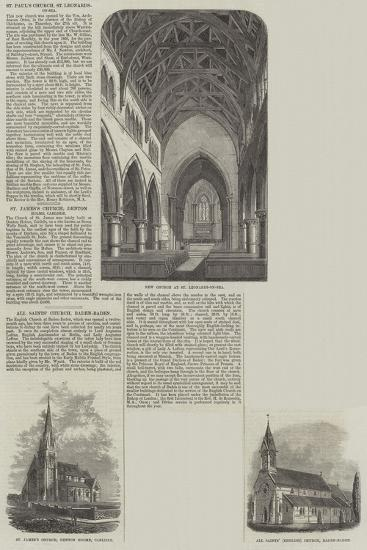 Various Churches--Giclee Print
