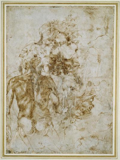 Various Figure Studies-Michelangelo Buonarroti-Giclee Print