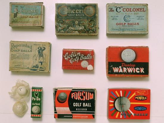Various golf ball boxes, early 20th century-Unknown-Giclee Print