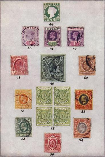 'Various Stamps of Africa Nos. 44-56', c1943, (1944)-Unknown-Giclee Print