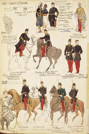Various Uniforms of the Kingdom of France, 1857-1858--Giclee Print