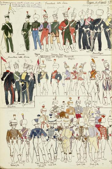 Various Uniforms of the Kingdom of Naples from 1814--Giclee Print