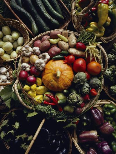 Various Vegetables in a Basket at the Tilth Festival in Seattle-Sam Abell-Photographic Print