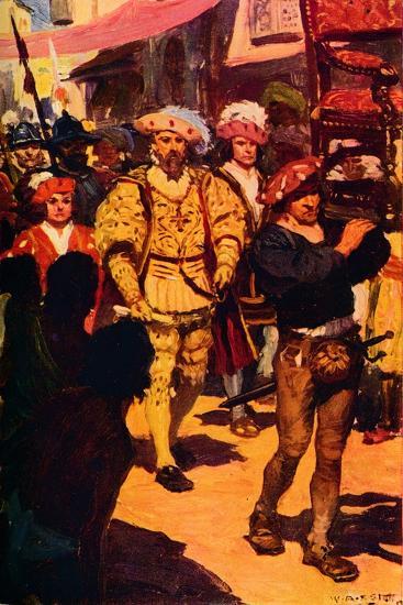 'Vasco Da Gama Visiting the King of Calicut', 1498 (c1912)-Unknown-Giclee Print