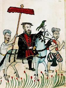 Vasco de Gama Riding Representing the Portuguese Coming to India, Biblioteca Casanatense, Rome
