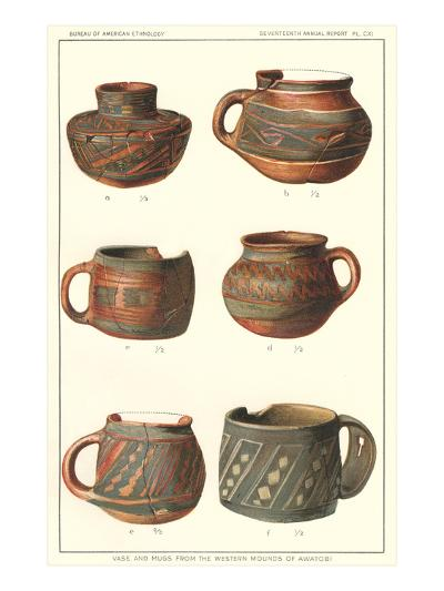 Vase and Mugs from Awatobi--Art Print