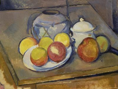 Vase, Apples and Sugar Bowl-Paul C?zanne-Giclee Print