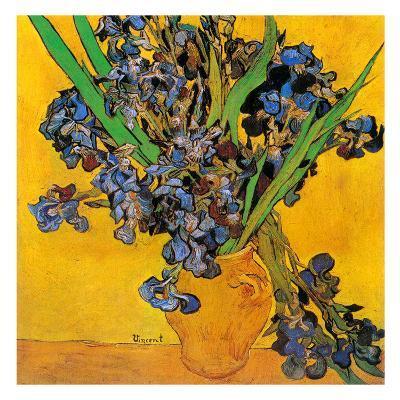 Vase avec iris (Détail)-Vincent van Gogh-Art Print