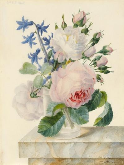 Vase Containing a Centifolia and an Alba Rose-Madame de Ligny-Giclee Print