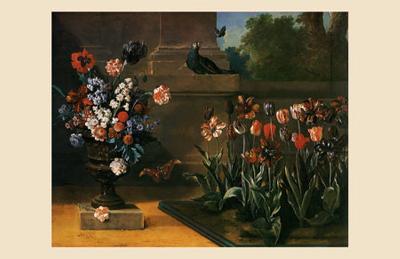 Vase de Fleurs et Parterre de Tulipes, 1744-Jean-Baptiste Oudry-Art Print