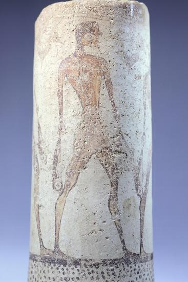 Vase Decorated with Figure of Fisherman, Detail, Cycladic Civilization, 3500-1050 Bc--Giclee Print