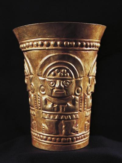 Vase Decorated with Figure of Naymlap, First King of Lambayeque, Gold, Peru--Giclee Print